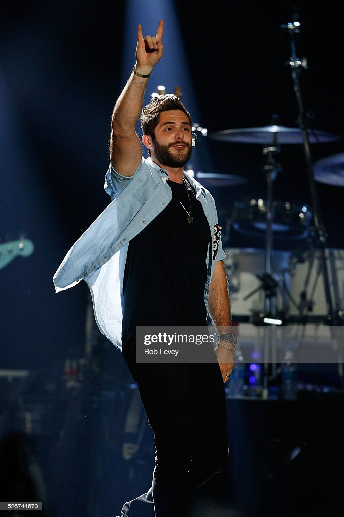Singer Thomas Rhett performs onstage during the 2016 iHeartCountry Festival at The Frank Erwin Center on April 30, 2016 in Austin, Texas.