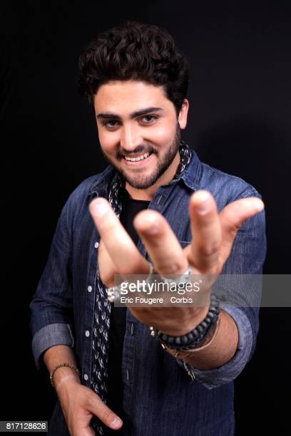 Singer Tibz poses during a portrait session in Paris France on