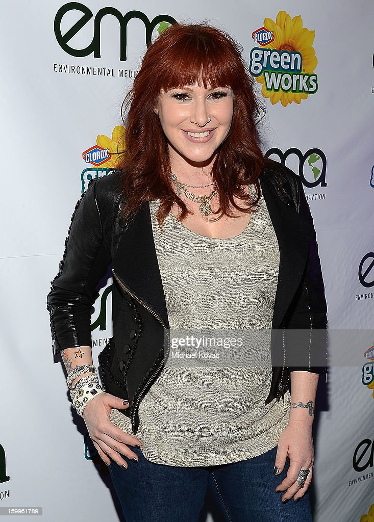 Singer Tiffany attends Celebrities and the EMA Help Green Works Launch New Campaign at Sur Restaurant on January 23, 2013 in Los Angeles, California.