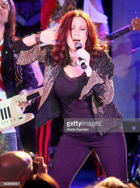 Singer Tiffany performs with band Jessie's Girl during Canal Room's 10 Year Anniversary at Canal Room on September 16 2013 in New York City