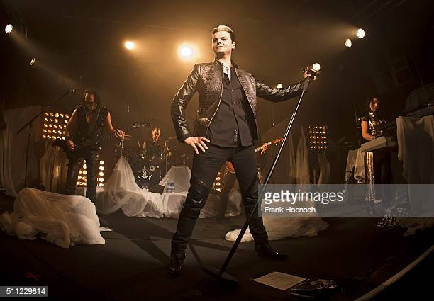 Singer Tilo Wolff of Lacrimosa performs live during a concert at the Postbahnhof on February 18 2016 in Berlin Germany