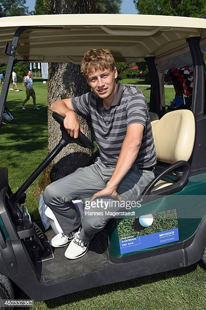 Singer Tim Bendzko attends the 'Young Wings Charity Golf Cup 2014' at Golfclub Munchen Eichenried on July 18 2014 in Munich Germany