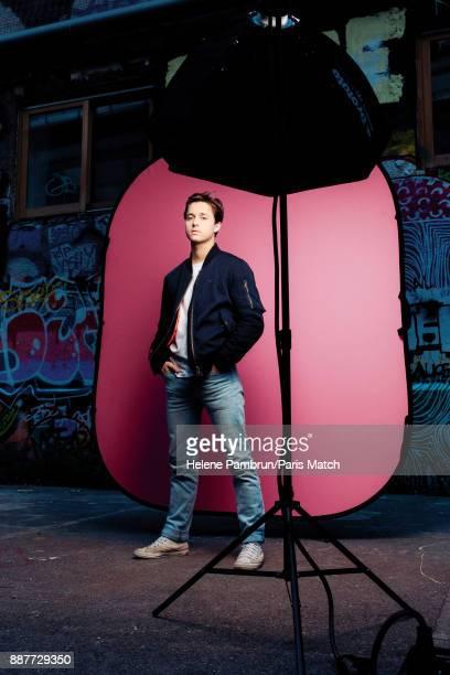 Singer Tim Dup aka Timothée Duperray is photographed for Paris Match on October 3 2017 in Paris France
