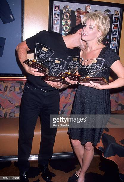 Singer Tim McGraw and singer Faith Hill attend the 33rd Annual Academy of Country Music Awards Artists Reception on April 21 1998 at the Country Star...