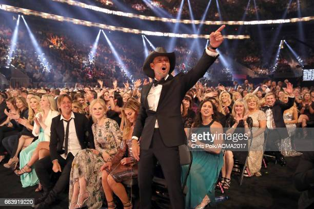 Singer Tim McGraw attends the 52nd Academy Of Country Music Awards at TMobile Arena on April 2 2017 in Las Vegas Nevada