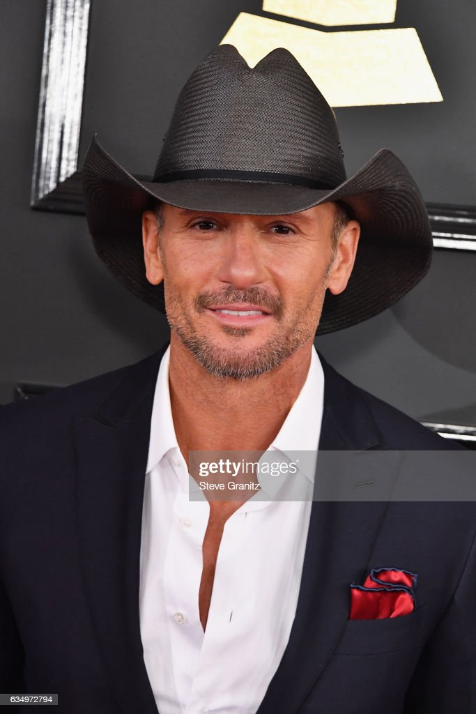 Singer Tim McGraw attends The 59th GRAMMY Awards at STAPLES Center on February 12, 2017 in Los Angeles, California.