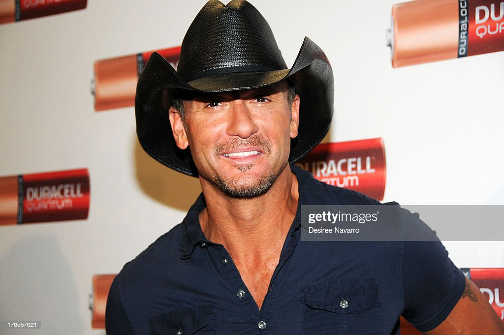 Singer <a gi-track='captionPersonalityLinkClicked' href=/galleries/search?phrase=Tim+McGraw&family=editorial&specificpeople=202845 ng-click='$event.stopPropagation()'>Tim McGraw</a> attends the 'Quantum Heroes' premiere at Engine 33, Ladder 9 on August 15, 2013 in New York City.