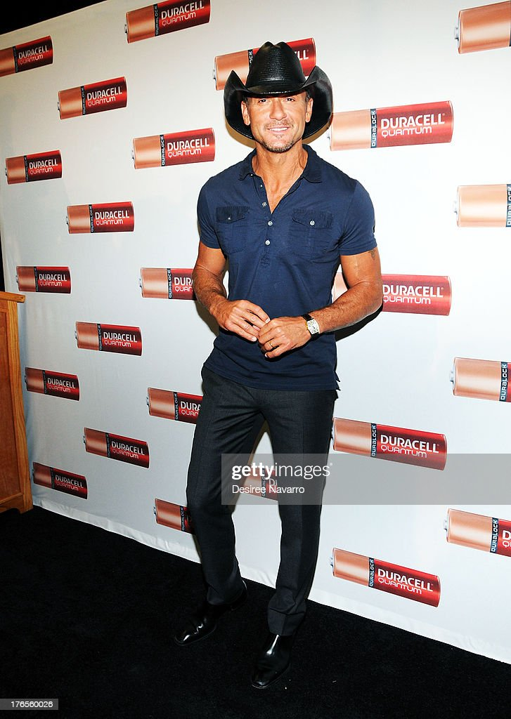 Singer Tim McGraw attends the 'Quantum Heroes' premiere at Engine 33, Ladder 9 on August 15, 2013 in New York City.