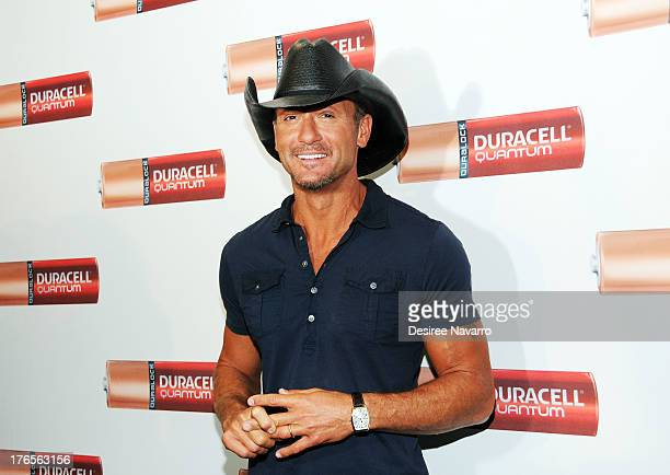 Singer Tim McGraw attends the 'Quantum Heroes' premiere at Engine 33 Ladder 9 on August 15 2013 in New York City