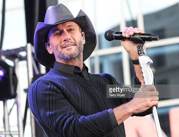 Singer Tim McGraw Performs On ABC's 'Good Morning America'on November 4 2015 in Nashville Tennessee