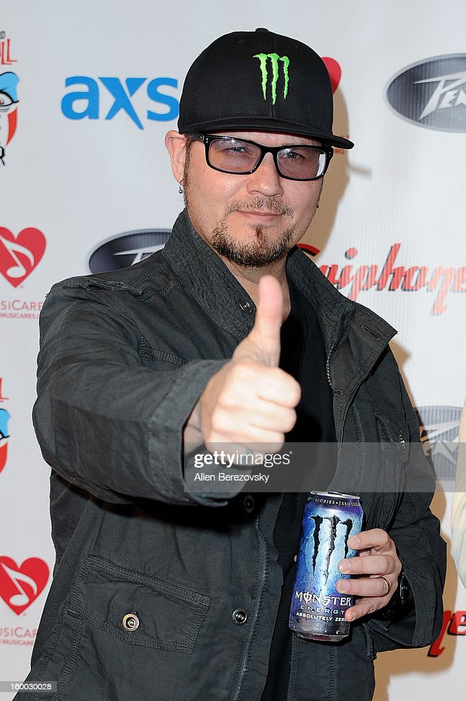 Singer Tim 'Ripper' Owens arrives at the Revolver/Guitar World Rock & Roll roast of Dee Snider at City National Grove of Anaheim on January 24, 2013 in Anaheim, California.