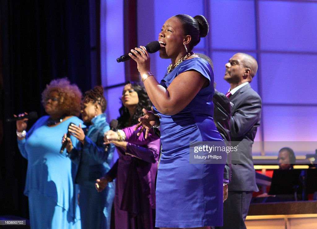 Singer Timiney Figueroa performs onstage during the BET Celebration of Gospel 2013 at Orpheum Theatre on March 16, 2013 in Los Angeles, California.