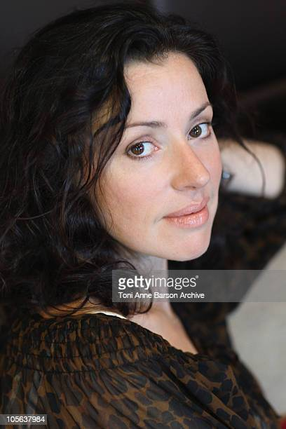 Singer Tina Arena poses for an exclusive Portrait session during the 12th International 'Festival des Antipodes' at Hotel des Lices on October 16...