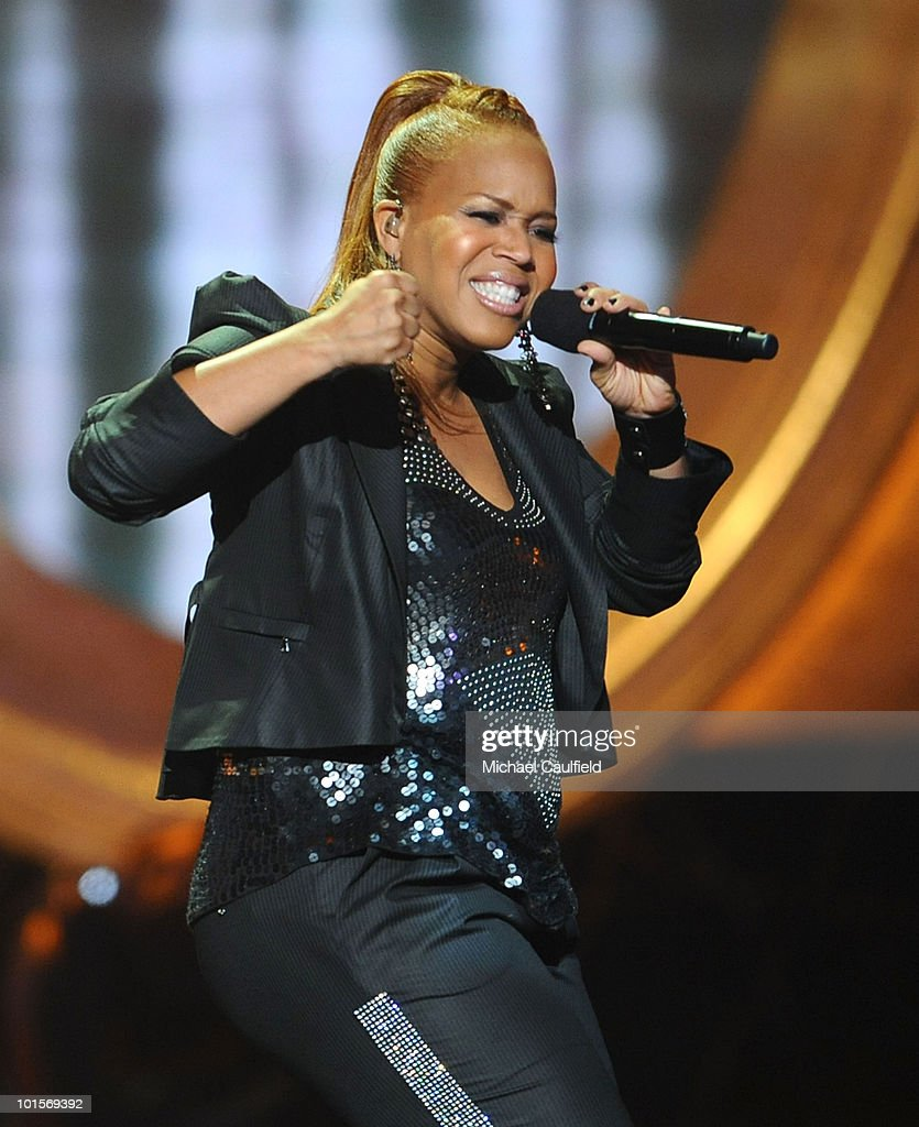 Singer Tina Campbell of <a gi-track='captionPersonalityLinkClicked' href=/galleries/search?phrase=Mary+Mary&family=editorial&specificpeople=776944 ng-click='$event.stopPropagation()'>Mary Mary</a> performs onstage during the 41st NAACP Image awards held at The Shrine Auditorium on February 26, 2010 in Los Angeles, California.