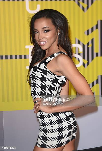 Singer Tinashe arrives on the red carpet at the MTV Video Music Awards August 30 2015 at the Microsoft Theater in Los Angeles California AFP...