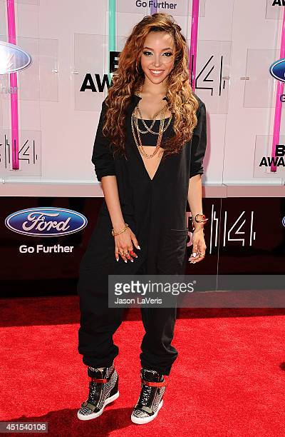 Singer Tinashe attends the 2014 BET Awards at Nokia Plaza LA LIVE on June 29 2014 in Los Angeles California