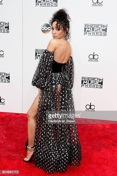 Singer Tinashe attends the 2016 American Music Awards at Microsoft Theater on November 20 2016 in Los Angeles California
