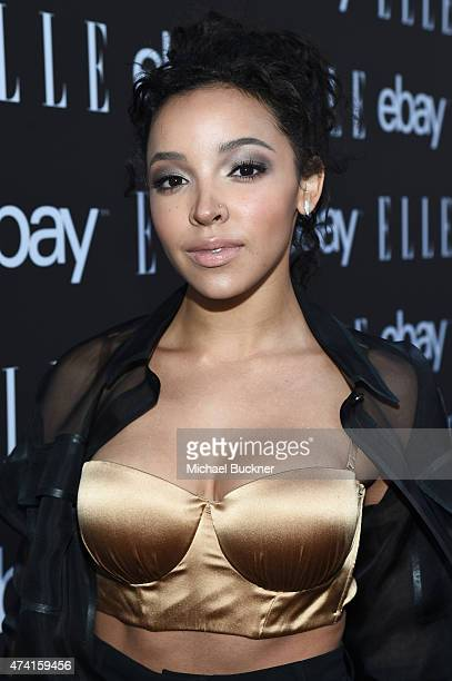 Singer Tinashe attends the 6th Annual ELLE Women In Music Celebration Presented By eBay Hosted by Robbie Myers with performances by Alanis Morissette...