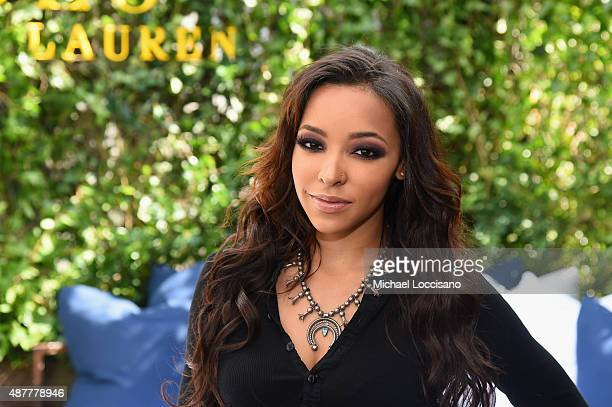 Singer Tinashe attends the Polo Ralph Lauren fashion show during Spring 2016 New York Fashion Week at Gallow Green at the McKittrick Hotel on...