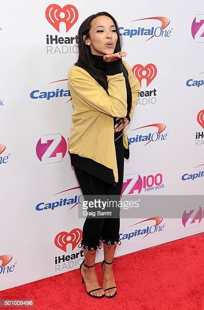 Singer Tinashe attends Z100's Jingle Ball 2015 at Madison Square Garden on December 11 2015 in New York City