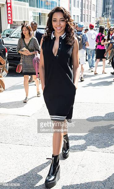 Singer Tinashe is seen arriving at Public School fashion show during Spring 2016 New York Fashion Week on September 13 2015 in New York City