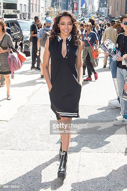 Singer Tinashe is seen in the Garment District on September 13 2015 in New York City