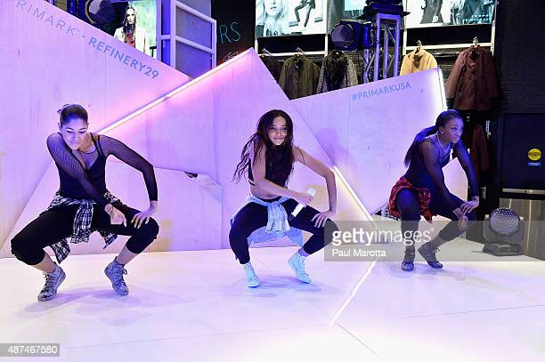 Singer Tinashe performs at the Primark US Grand Opening Store Celebration at Primark Downtown Crossing on September 9 2015 in Boston Massachusetts