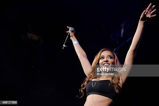 Singer Tinashe performs on stage at Power 1051's Powerhouse 2014 at Barclays Center of Brooklyn on October 30 2014 in New York City