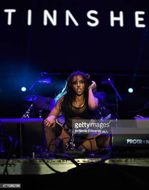 Singer Tinashe performs onstage at LA Pride 2015 by Christopher Street West on June 13 2015 in West Hollywood California