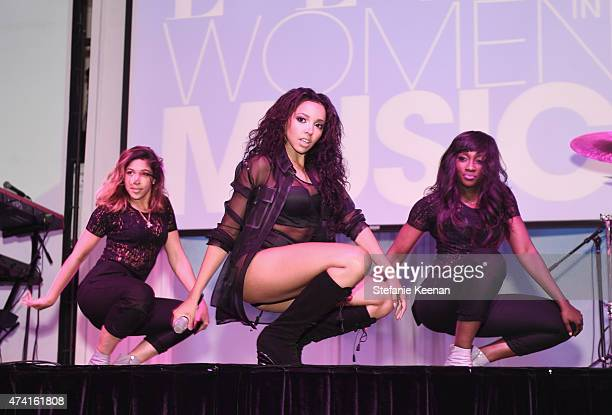 Singer Tinashe performs onstage at the 6th annual ELLE Women In Music celebration presented By eBay Hosted by Robbie Myers with performances by...