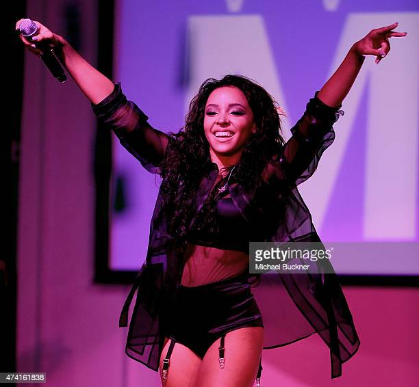 Singer Tinashe performs onstage at the the 6th annual ELLE Women In Music celebration presented By eBay Hosted by Robbie Myers with performances by...