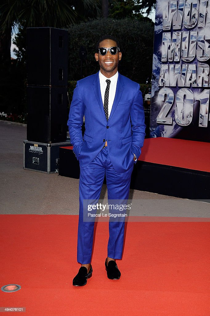 Singer <a gi-track='captionPersonalityLinkClicked' href=/galleries/search?phrase=Tinie+Tempah&family=editorial&specificpeople=6742538 ng-click='$event.stopPropagation()'>Tinie Tempah</a> arrives the World Music Awards at Sporting Monte-Carlo on May 27, 2014 in Monte-Carlo, Monaco.