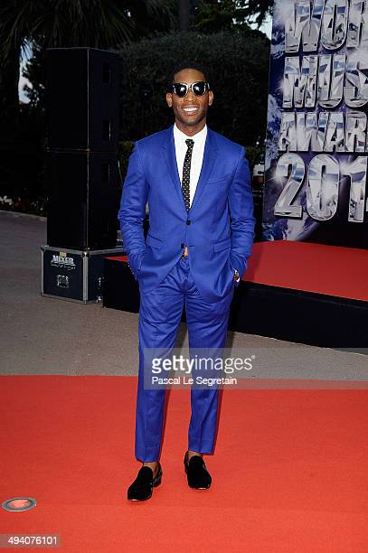 Singer Tinie Tempah arrives the World Music Awards at Sporting MonteCarlo on May 27 2014 in MonteCarlo Monaco