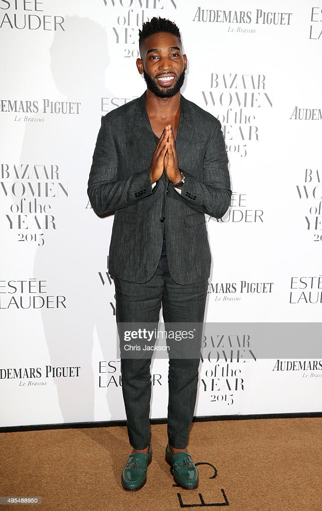 Singer <a gi-track='captionPersonalityLinkClicked' href=/galleries/search?phrase=Tinie+Tempah&family=editorial&specificpeople=6742538 ng-click='$event.stopPropagation()'>Tinie Tempah</a> attends Harper's Bazaar Women of the Year Awards at Claridge's Hotel on November 3, 2015 in London, England.