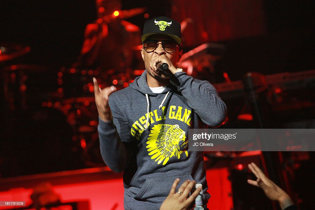 Singer Tip 'T.I' Harris performs on stage during Power 106's Valentine's Day Concert at Nokia Theatre L.A. Live on February 14, 2013 in Los Angeles, California.