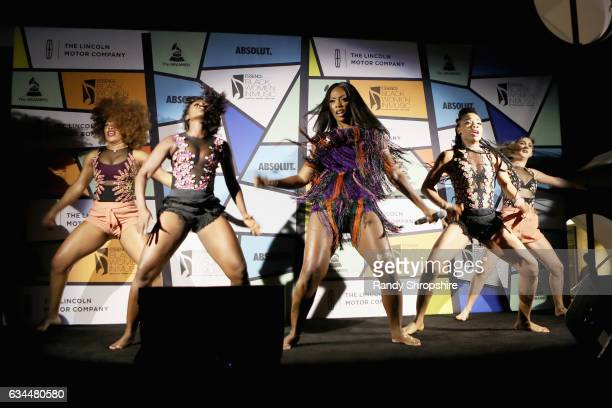 Singer Tiwa Savage performs onstage during 2017 Essence Black Women in Music at NeueHouse Hollywood on February 9 2017 in Los Angeles California