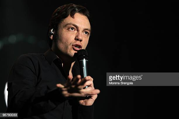 Singer Tiziano Ferro performs at Datch Forum on May 04 2009 in Milan Italy