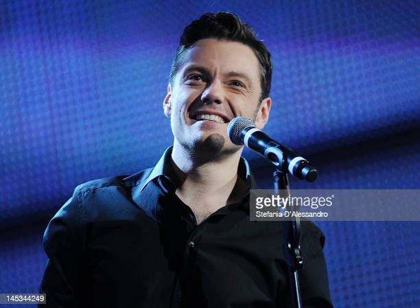 Singer Tiziano Ferro performs live during 2012 Wind Music Awards held at Arena of Verona on May 26 2012 in Verona Italy