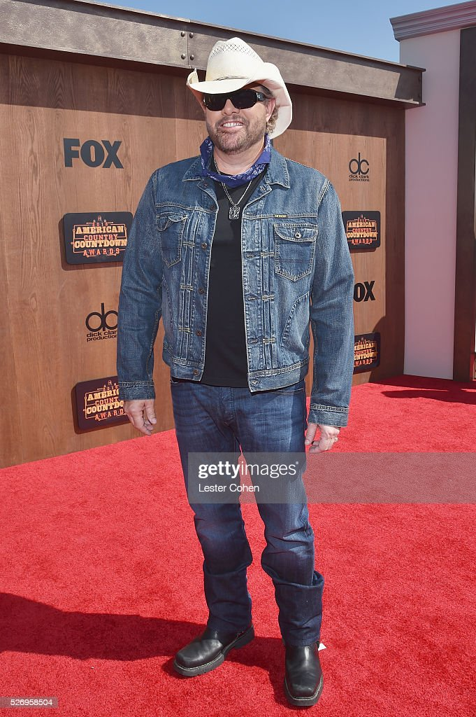 Singer Toby Keith attends the 2016 American Country Countdown Awards at The Forum on May 1, 2016 in Inglewood, California.