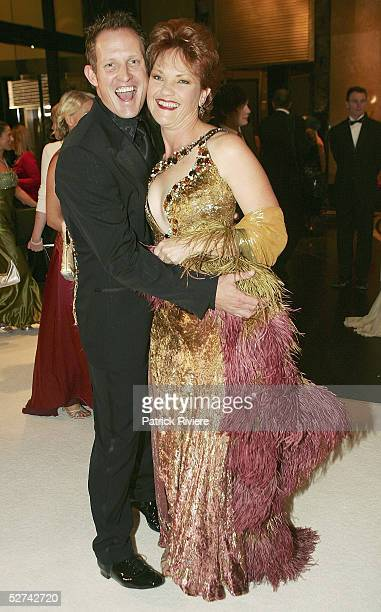Singer Todd McKenney and politician Pauline Hanson arrive with her husband Doctor Jason Harvey at the 47th Annual TV Week Logie Awards at the Crown...