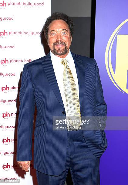Singer Tom Jones arrives at Barbra Streisand's performance at Planet Hollywood Resort Casino Grand Opening Weekend on November 17 2007 in Las Vegas...