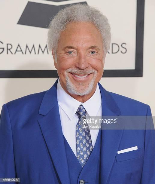Singer Tom Jones arrives at the 57th GRAMMY Awards at Staples Center on February 8 2015 in Los Angeles California