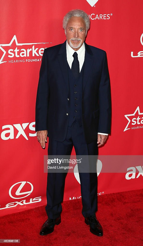 Singer Tom Jones attends the 2015 MusiCares Person of the Year Gala honoring Bob Dylan at the Los Angeles Convention Center on February 6, 2015 in Los Angeles, California.
