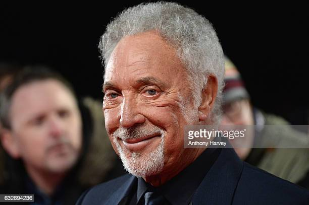 Singer Tom Jones attends the National Television Awards on January 25 2017 in London United Kingdom