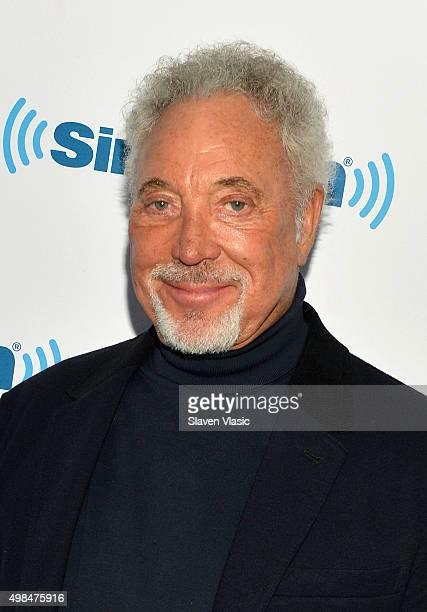 Singer Tom Jones visits SiriusXM Studios on November 23 2015 in New York City