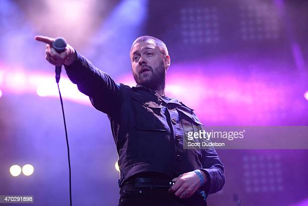 Singer Tom Meighan of Kasabian performs onstage during day 2 of the Coachella Music Festival at The Empire Polo Club on April 18 2015 in Indio...