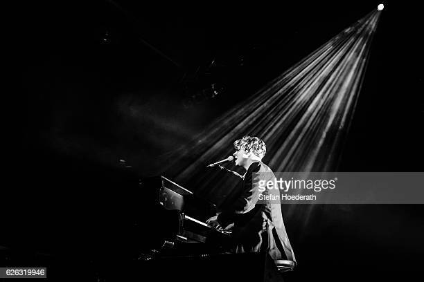 Singer Tom Odell performs live on stage during a concert at Huxleys Neue Welt on November 28 2016 in Berlin Germany