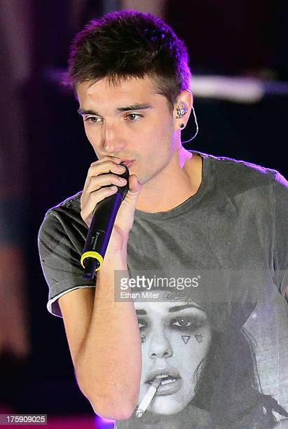 Singer Tom Parker of The Wanted performs at The Boulevard Pool at The Cosmopolitan of Las Vegas as the group tours in support of the upcoming album...