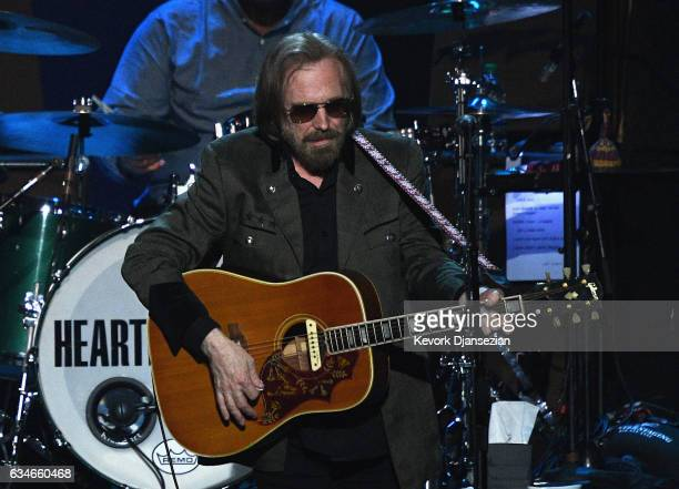Singer Tom Petty performs onstage during MusiCares Person of the Year honoring Tom Petty at the Los Angeles Convention Center on February 10 2017 in...