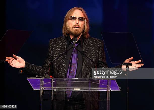 Singer Tom Petty speaks during the 31st Annual ASCAP Pop Music Awards at The Ray Dolby Ballroom at the Hollywood Highland Center on April 23 2014 in...